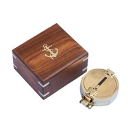 "Brass Clinometer Compass 4"" Brass Compass Nautical Handheld Compasses - Brand New"