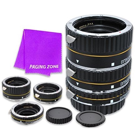 Macro Auto Focus Extension Tube Set 13-21-31mm DG for Canon EOS Rebel Digital Cameras XSi, T1i, T2i, T3, T3i, T4i, T5, SL1, T5i, T6, T6i, T6s, 7D Mark II, 70D, 80D, 6D, 5D Mark III, 5Ds, 5DS-R