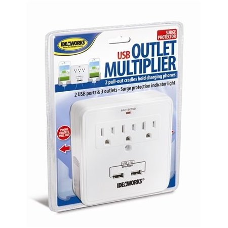 3 prong surge protector smartphone charging station wusb outlet multiplier dual surge