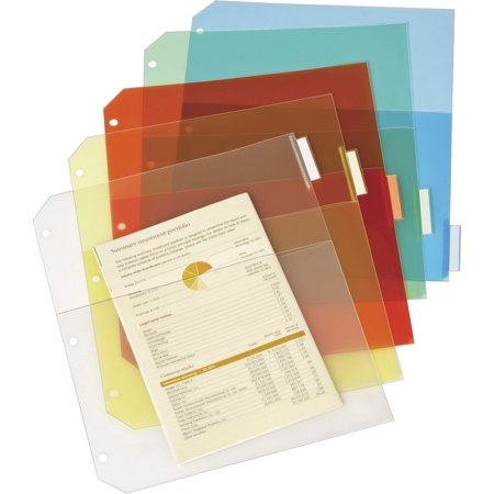 Cardinal, CRD84009, Poly Ring Binder Pockets, 5 / Pack, Assorted Cardinal Zippered Binder Pockets