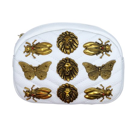 34bc75057be5 Inzi Inpired Bees Butterflies and Lions belt bag White - Walmart.com