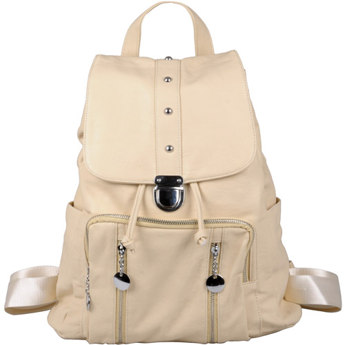 Brinley Co Women's Faux Leather Fold-over Backpack
