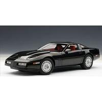 1986 chevrolet corvette black 1/18 diecast car model by autoart