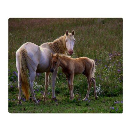 CafePress - Mare And Foal - Soft Fleece Throw Blanket, 50
