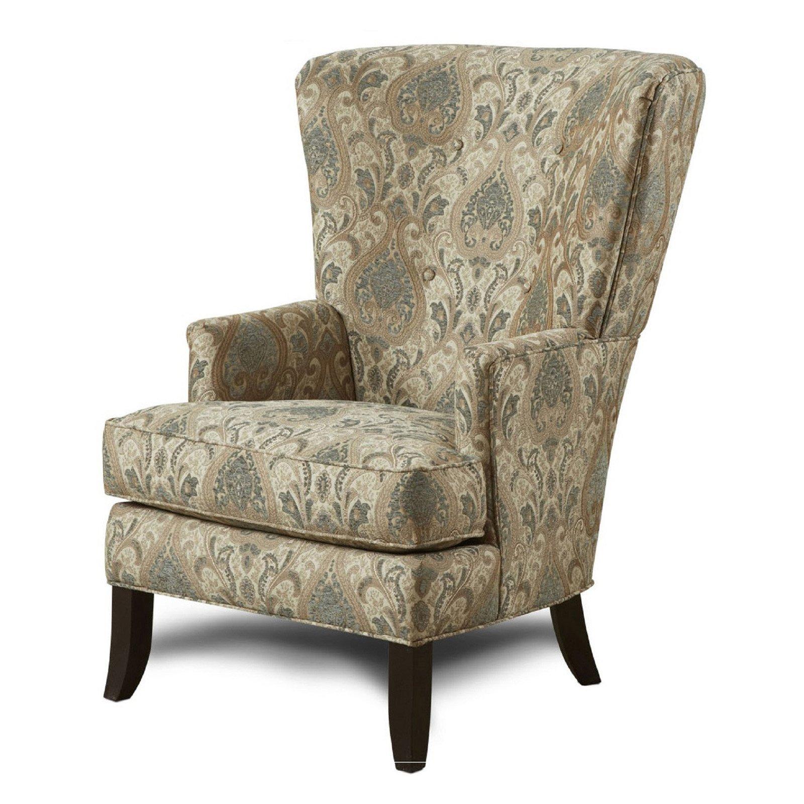 Chelsea Home Furniture Devon Martha Floral Wingback Chair