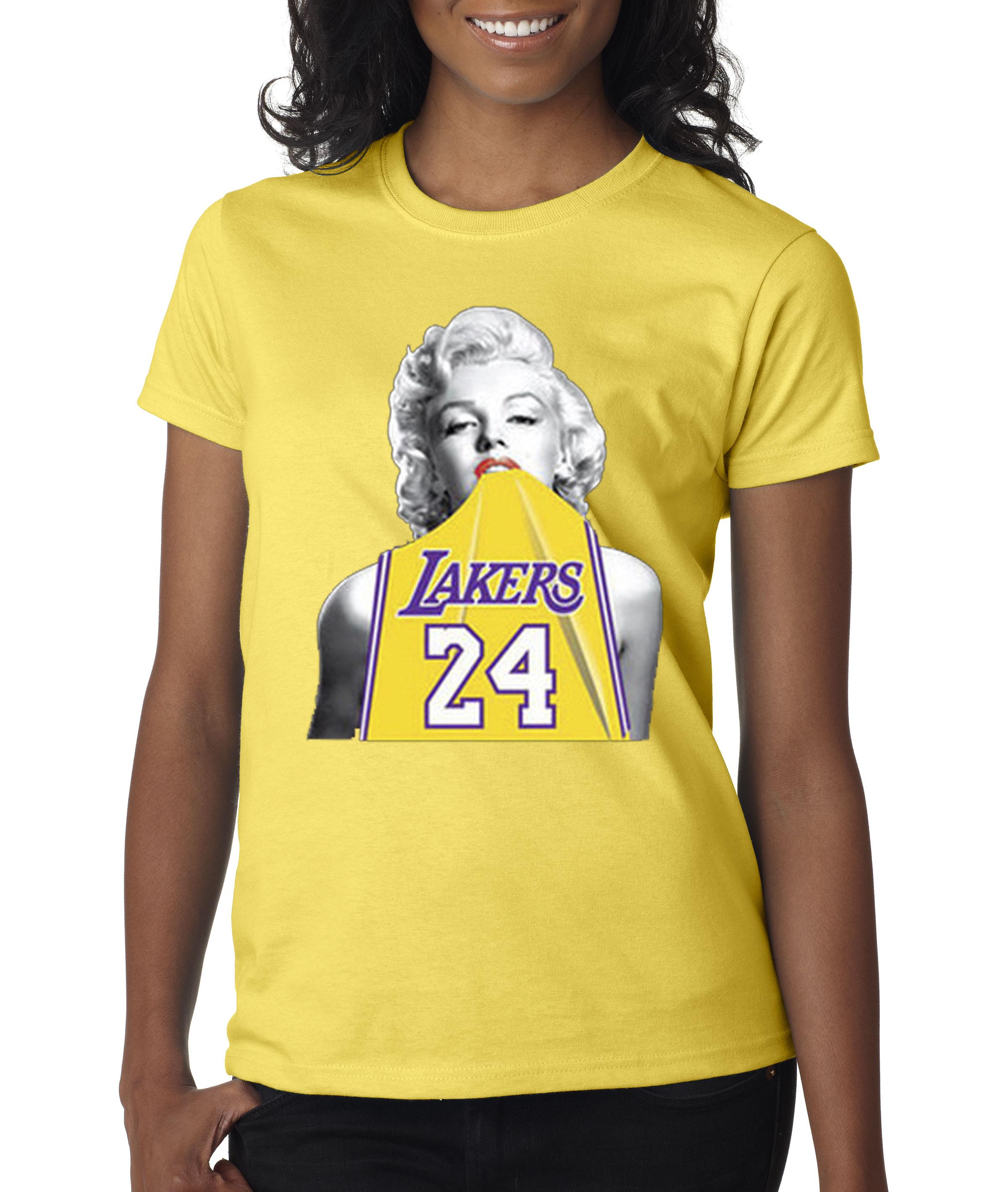 New Way - New Way 412 - Women s T-Shirt Marilyn Monroe Lakers 24 Kobe Bryant  Jersey - Walmart.com e8b425c8a5