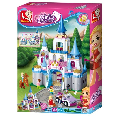 Sluban Pink Dream Princess Series Building Kit Educational Blocks (815 Piece) – Royal Sapphire