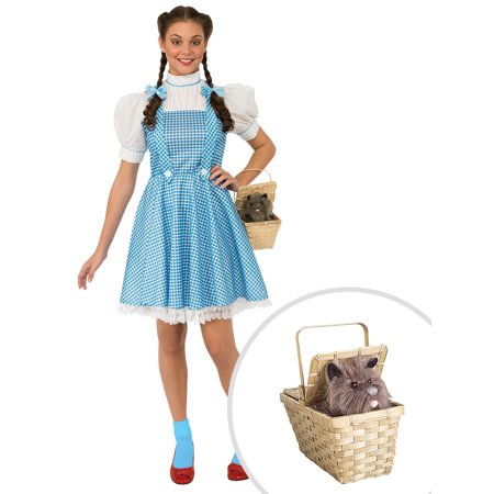 Women's Dorothy Wizard of Oz Costume and Deluxe Toto Basket - Wizard Of Oz Toto Dog Costume