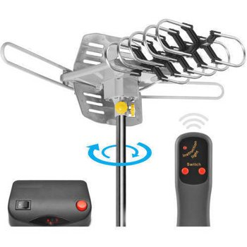 Ematic HD TV Motorized Outdoor Antenna with 150-Mile Range