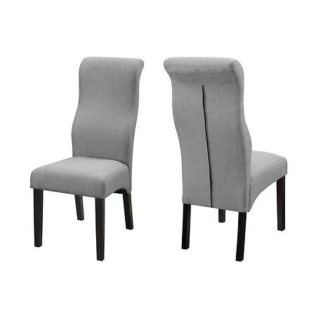 gray fabric upholstered high back dining side chair by coaster 101534