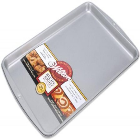 Small Jelly Roll Pan - Wilton Recipe Right Cookie/Jelly Roll Pan, 17-1/4 by 11-1/2-Inch