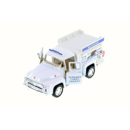 NEW KINSMART 1956 FORD F-100 PICKUP ICE CREAM TRUCK DIECAST MODEL TOY (1953 To 1956 Ford F100 Trucks For Sale)