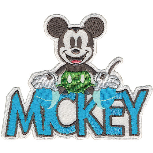 Disney Mickey Mouse, Mickey with Name Iron-On Applique