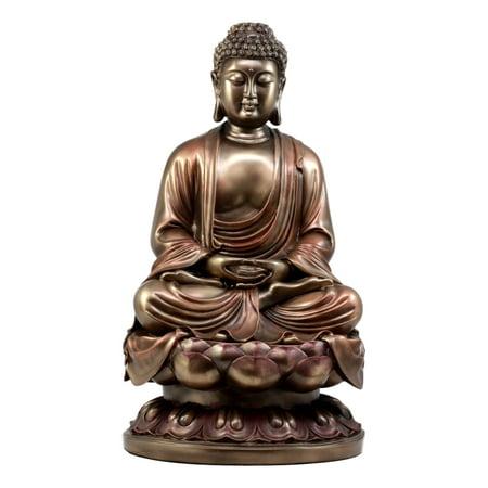 Ebros Gift Large Meditating Buddha On Lotus Throne Statue 15