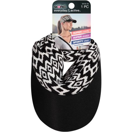 scunci Everyday & Active Visor Headwrap, Colors and Design May Vary