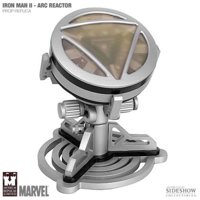 Tony Stark Silver Arc Reactor Movie Prop Replica Iron Man 2 Marvel Comics Merchandise Limited Edition Collectible