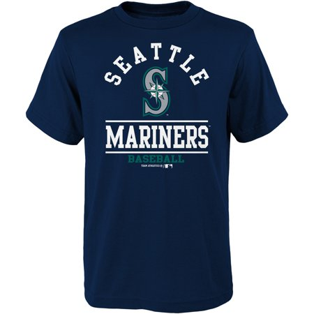 - Youth Navy Seattle Mariners Arch T-Shirt