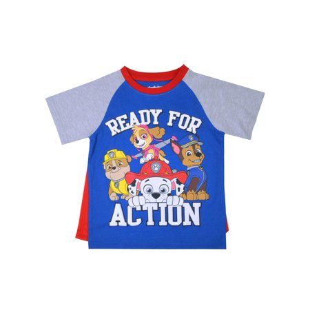 Paw Patrol Toddler Boy Raglan Sleeve T-Shirt with Cape