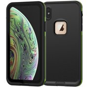 iPhone Xr Waterproof Case, Allytech Full Body Protective Case Drop Resistance Snowproof Dustproof Shockproof Underwater Full Sealed Case for iPhone Xr 6.1-inch Phone, Black