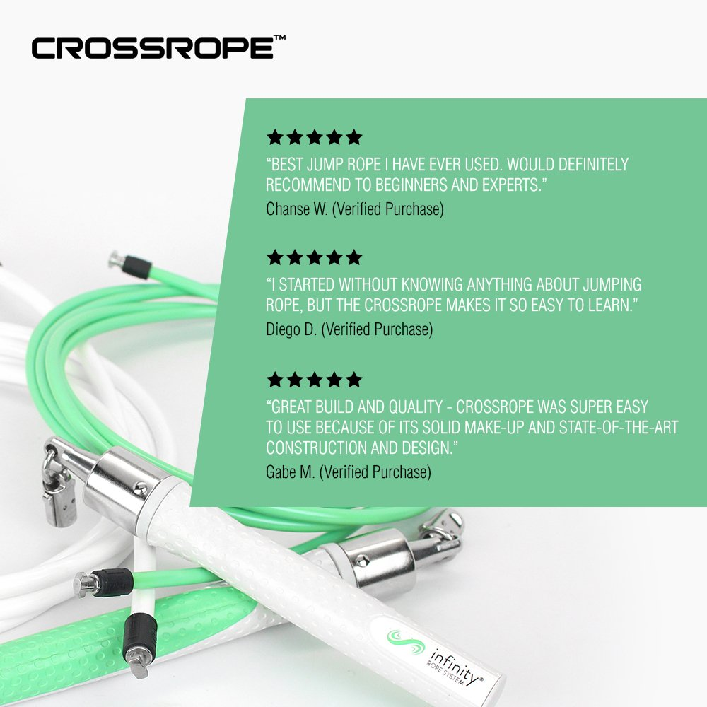 Springseile Crossrope Jump Rope Get Lean Set Speed Rope and Strength Rope