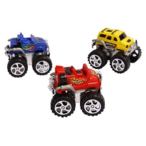 Mini Pull Back Monster Truck Toy Set Assorted Pack of 12 Friction Pull Back Toy Vehicles |... by Dazzling Toys
