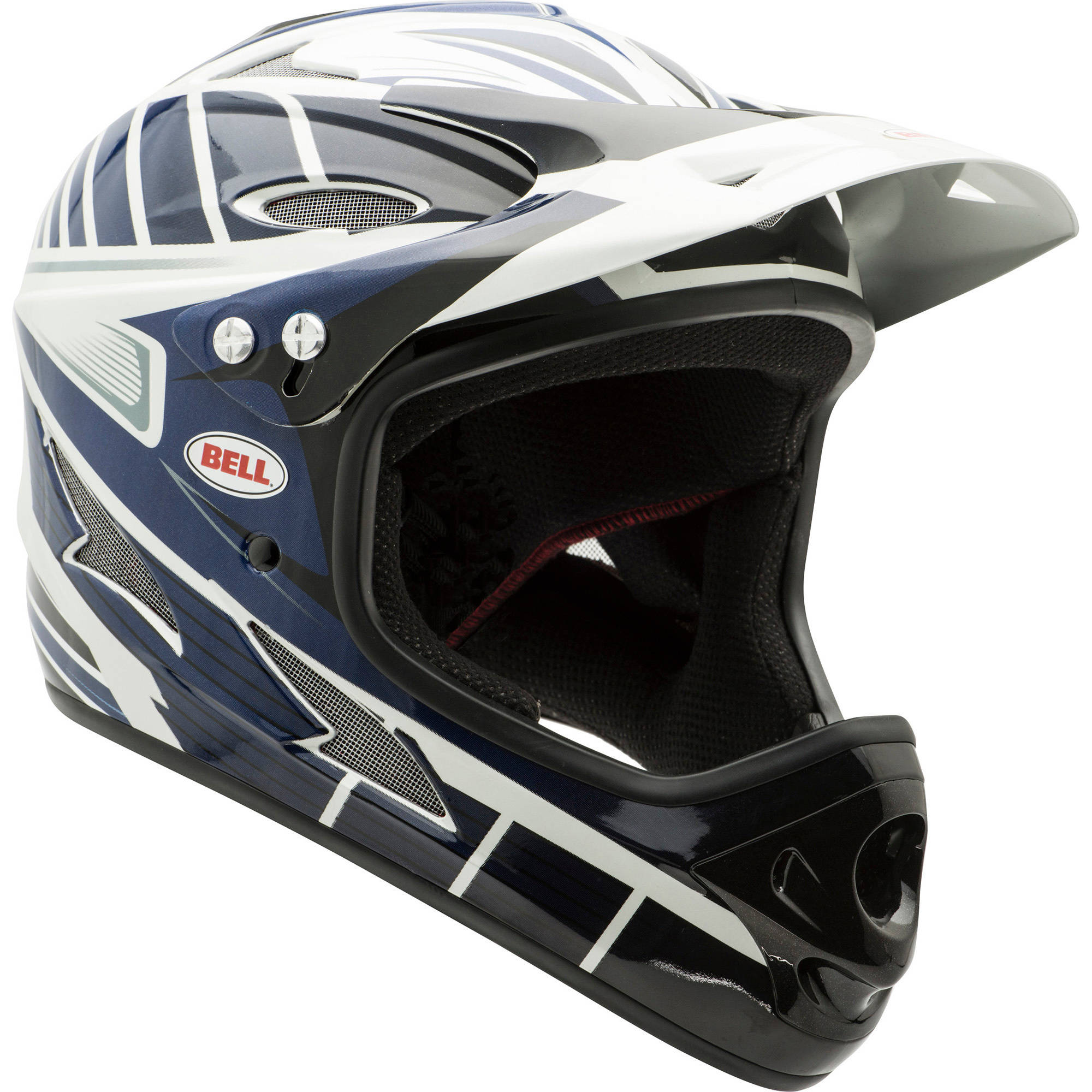 Bell Full Face Helmet >> Bell Exodus Full Face Bike Helmet W Chinbar Black Blue White