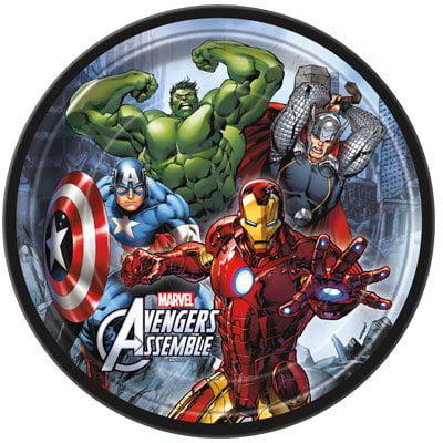 Avengers 'Assemble' Large Paper Plates (8ct) - Avengers Assemble Party Supplies