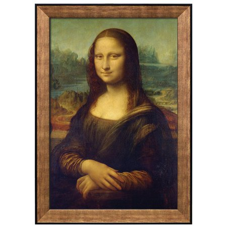 wall26 - Mona Lisa by Leonardo Da Vinci - Framed Art Prints, Home Decor - 24x36 inches - Lisa Frame