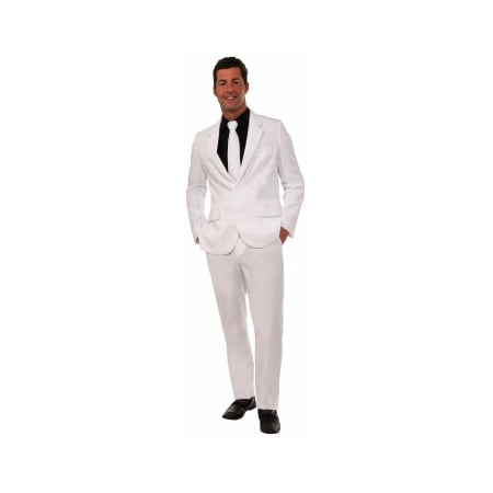 Mens Costumes (CO-WHITE SUIT AND TIE-XLARGE)