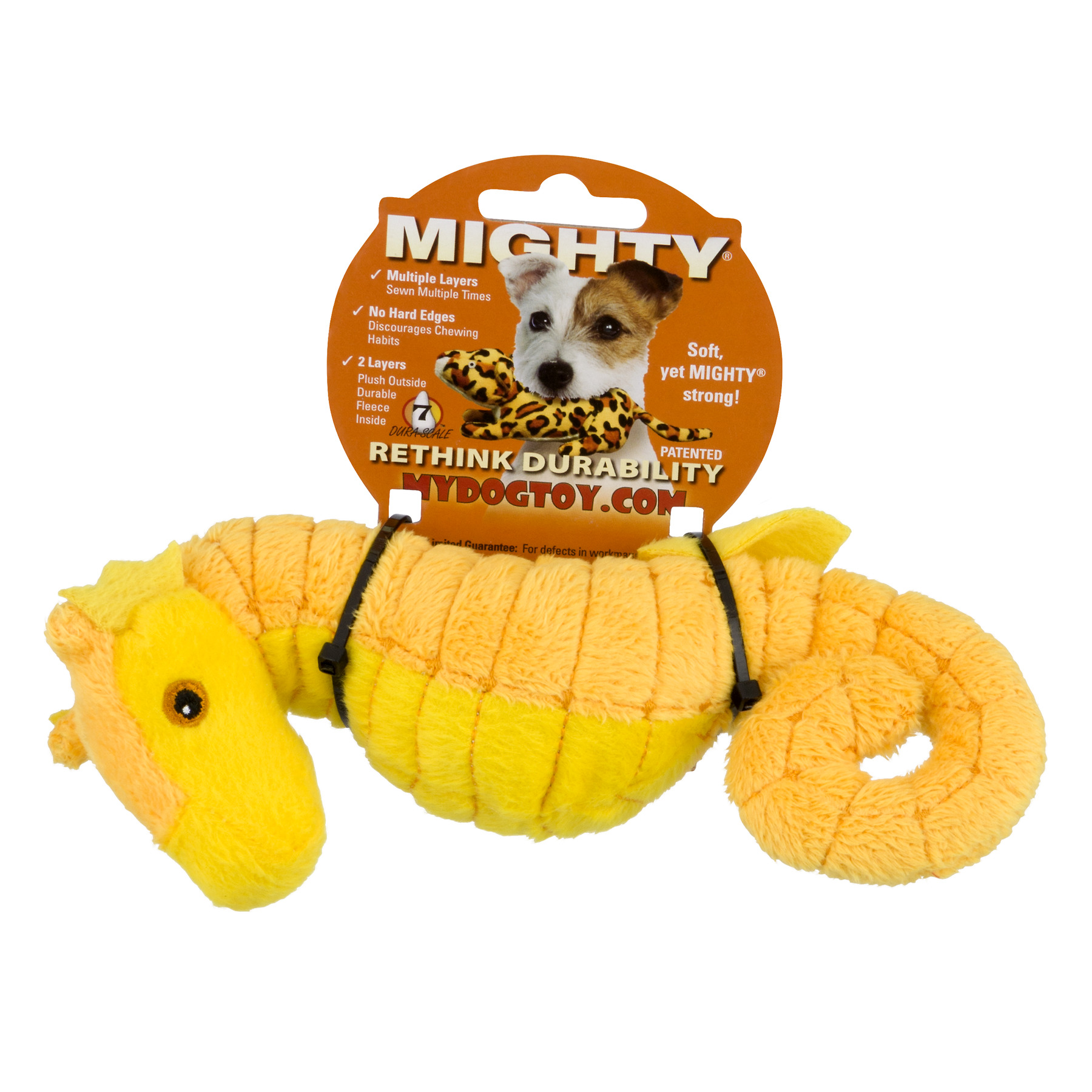 VIP Products Mighty Seahorse Dog Toy, Multicolor