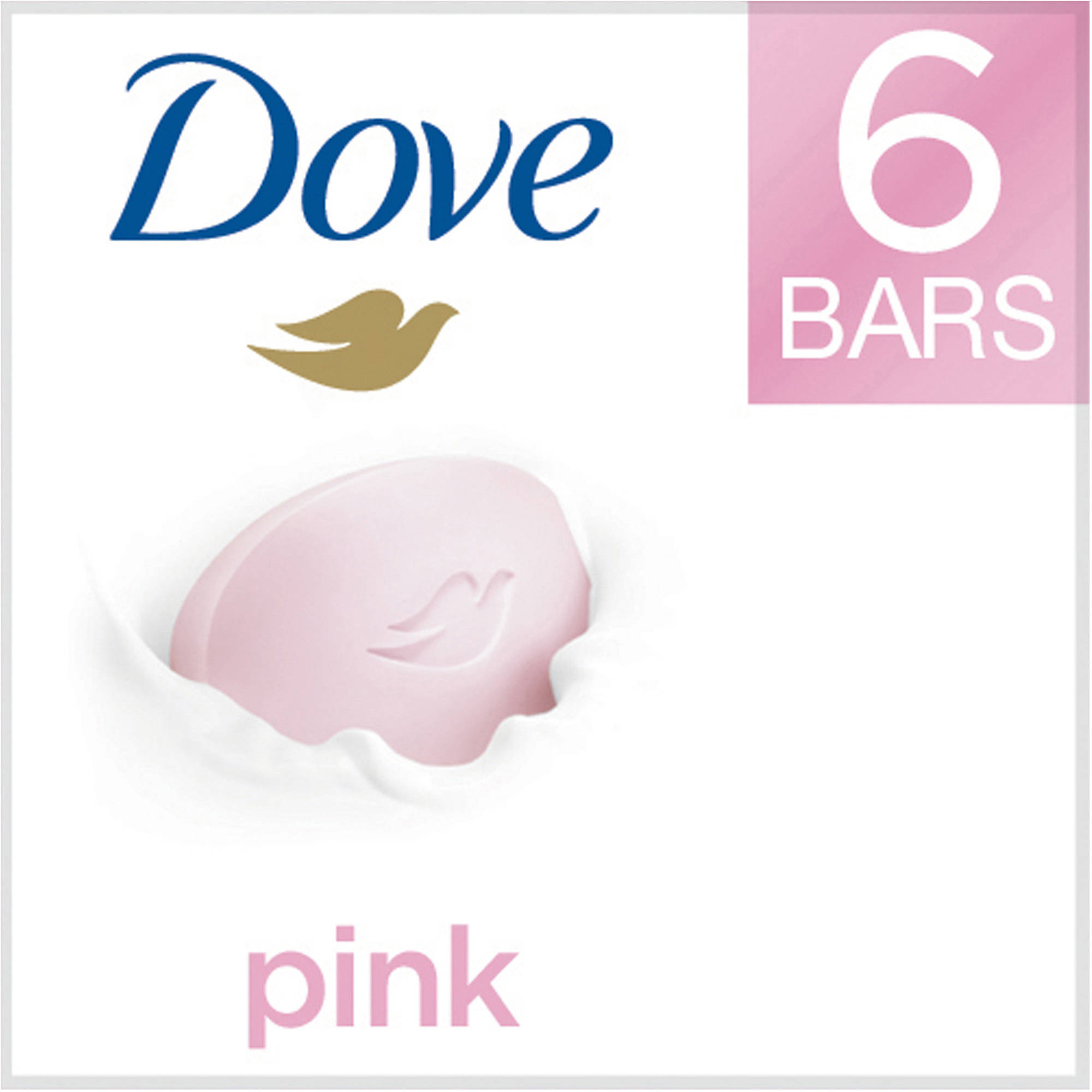Dove Core Pink Beauty Bar, 4 oz, 6 Bar
