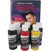 Createx Airbrush Color Kit with Bonus Materials