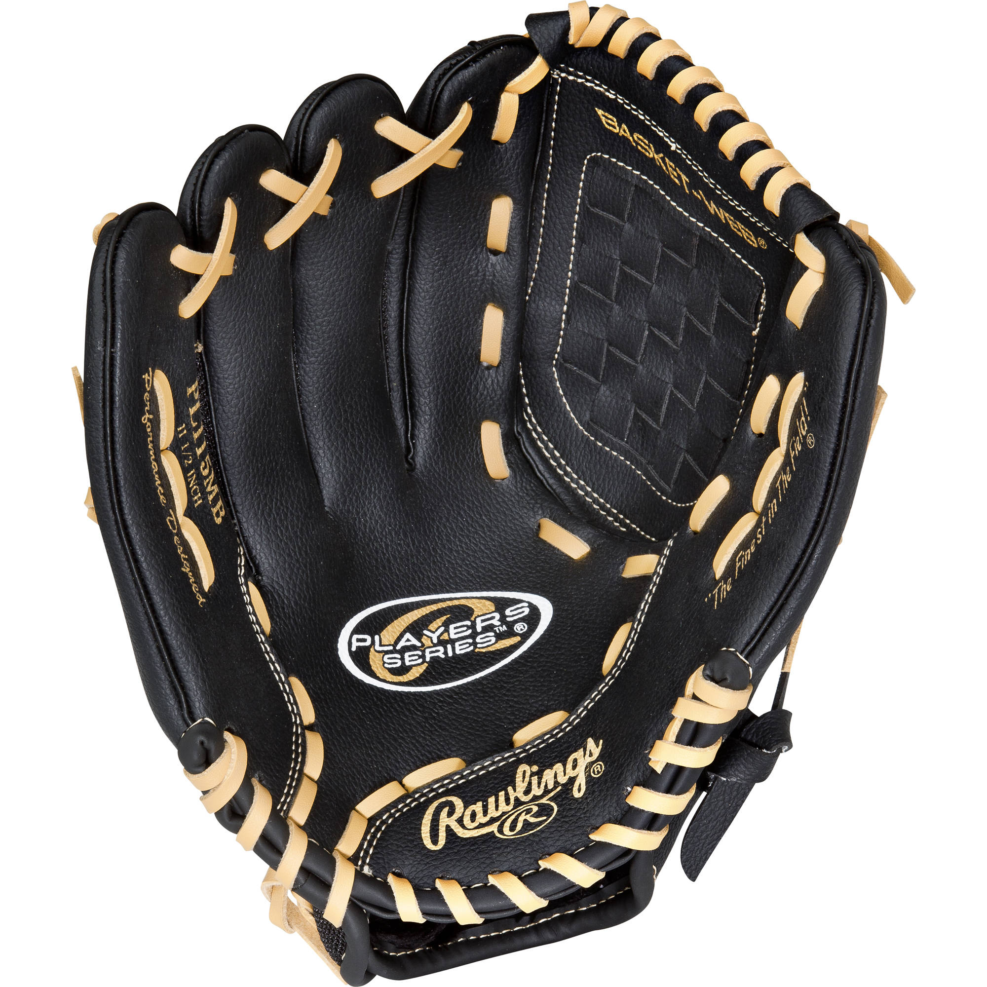 "Rawlings Baseball 11.5"" Players Series Left-Hand Throwing Baseball Fielders Glove PL115MBLH"
