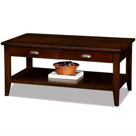 Bowery Hill Two Drawer Solid Wood Coffee Table in Chocolate Cherry - image 4 de 4
