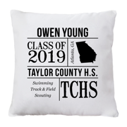 Personalized All About the Graduate Throw Pillow - Black