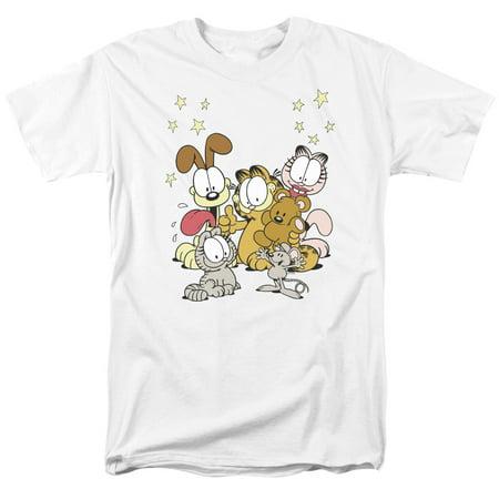 Garfield/Friends Are Best S/S Adult 18/1   White     - Garfield Halloween Song