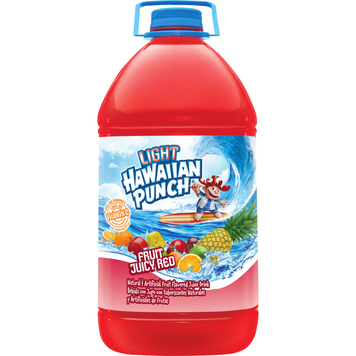 (2 Pack) Hawaiian Punch Light Juice, Juicy Red, 128 Fl Oz, 1 Count