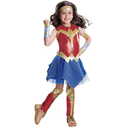 Justice League Movie - Wonder Woman Deluxe ChildCostume L - Wonder Woman Deluxe Corset Womens Costume