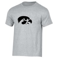 Men's Russell Athletic Heathered Gray Iowa Hawkeyes Crew Primary Logo T-Shirt