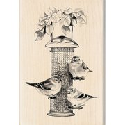 "Inkadinkado Mounted Rubber Stamp, Birds Feeder 4"" x 2.75"""