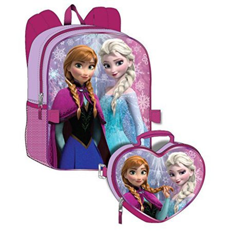 Disney Frozen Girl's Backpack with Detachable Lunchbox Set (Exclusive Design) - Backpack With Lunchbox
