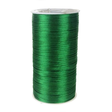 (Satin Rattail Cord Chinese Knot, 1/16-Inch, 200 Yards, Emerald Green)