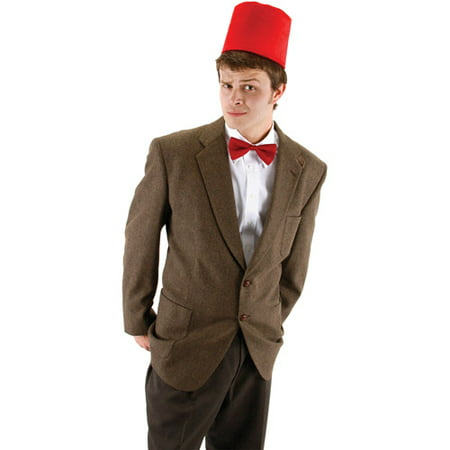 Doctor Who Fez and Bowtie Set Adult Halloween Accessory - Doctor Who Halloween Outfit