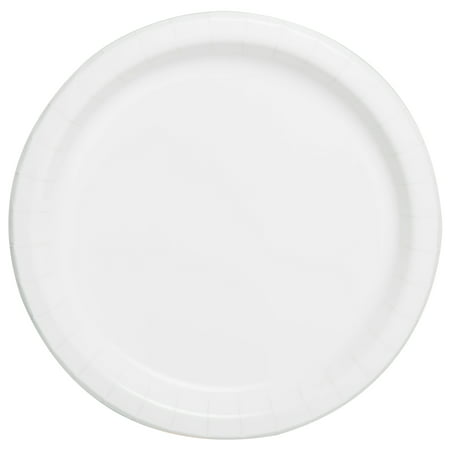 Round Paper Plates, 7 in, White, 24ct Remember Paper Plates