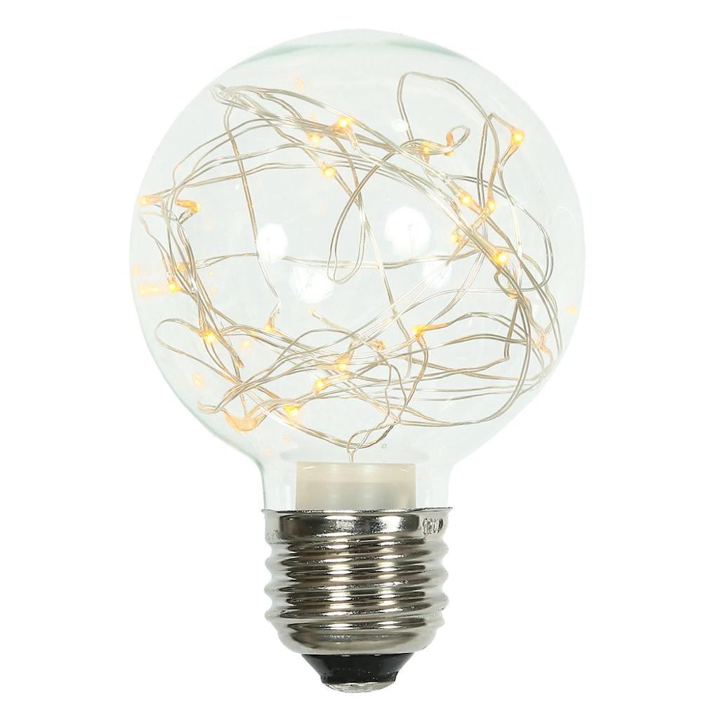 Vickerman 509593 - 25Lt Yellow Twinkle G95 FairyLt Bulb E26 (XLEDG97) G95 Globe LED Light Bulb
