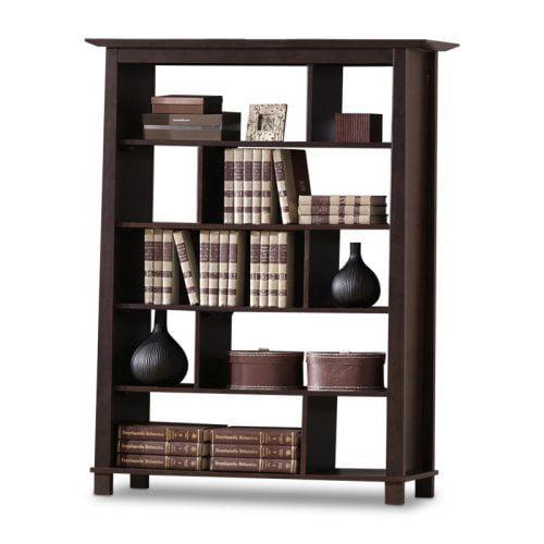 Baxton Studio 56.3 in. Havana Brown Wooden Bookcase