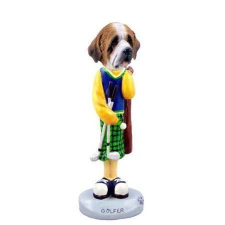 NO.DOOG3120 Saint Bernard w/Rough Coat Golf Doogie Collectable Figurine
