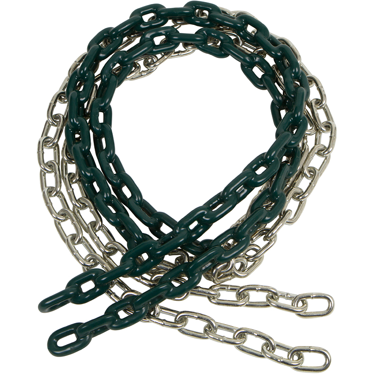 Swing Set Stuff Inc. 8.5 Ft. Coated Trapeze Chain Pair (Green)