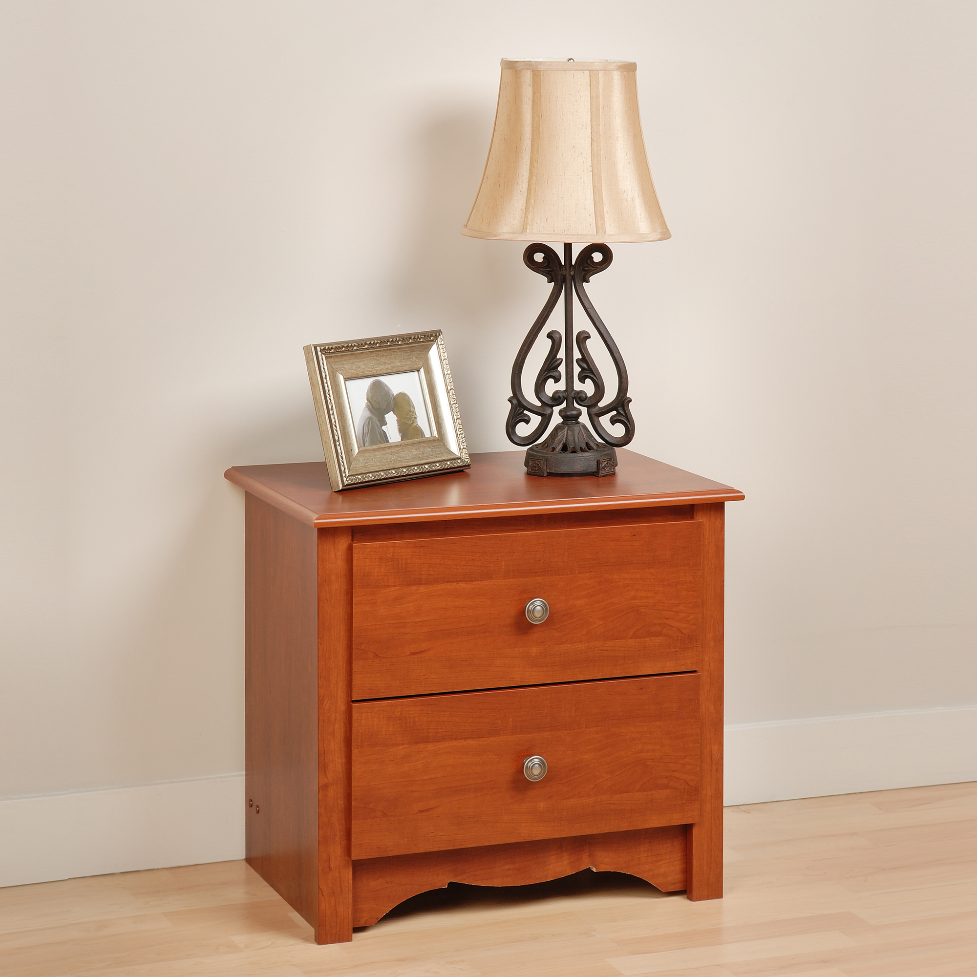 Edenvale 2-Drawer Nightstand, Cherry by Prepac