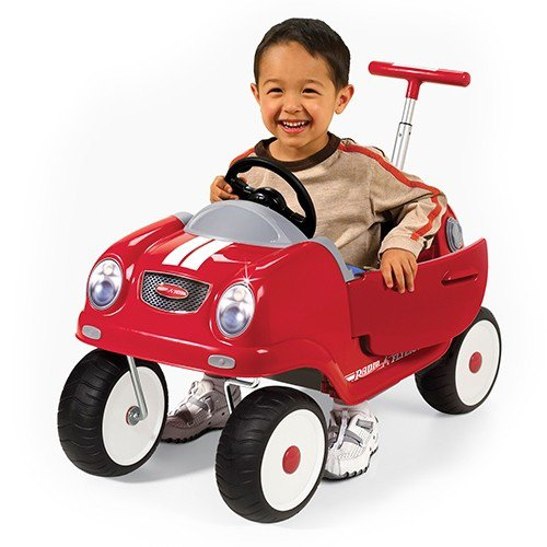 Radio Flyer Steer & Stroll Coupe Car Riding Push Toy